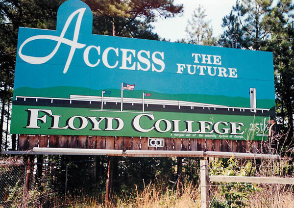 Old Floyd College Road Sign