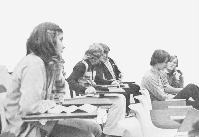 Students in classroom in 70s